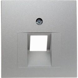 Накладка на розетку информационную Berker, алюминий матовый, 14071404