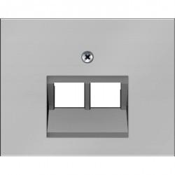 Накладка на розетку информационную Berker, сталь матированная, 14097004