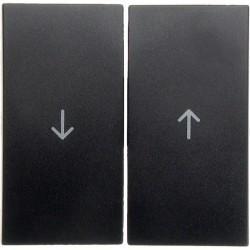 Клавиша для жалюзийного выключателя Berker, антрацит матовый, 16251606