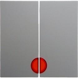 Клавиша двойная с линзами Berker, белый, 16278989