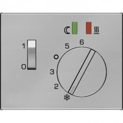 Накладка на термостат Berker, сталь матированная, 16727104