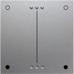 Накладка на светорегулятор Berker, алюминий матовый, 17651404