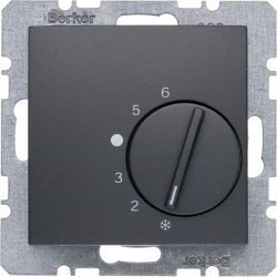 Термостат комнатный Berker, антрацит, 20261606