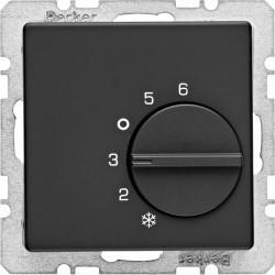 Термостат комнатный Berker, черный бархат, 20266086