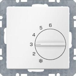 Термостат комнатный Berker, белый бархат, 20266089