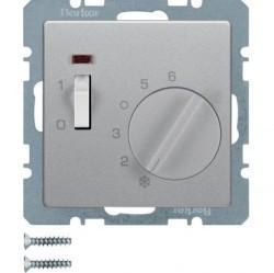Термостат комнатный Berker, алюминий бархатный, 20306084