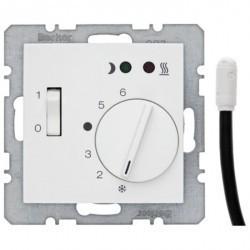 Термостат для теплого пола Berker, с датчиком, белый матовый, 20341909