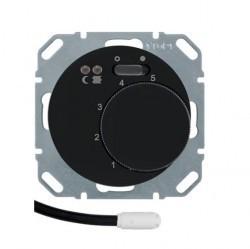 Термостат для теплого пола Berker, с датчиком, черный глянцевый, 20342045