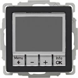 Термостат комнатный Berker, с дисплеем, черный бархат, 20446086