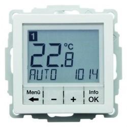Термостат комнатный Berker, с дисплеем, белый бархат, 20446089