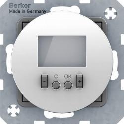 Термостат комнатный Berker, с дисплеем, белый глянцевый, 20452089