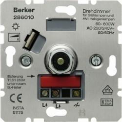 Механизм поворотного светорегулятора Berker Коллекции Berker, 600 Вт, 286010