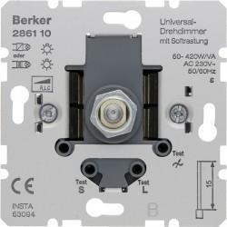 Механизм поворотного светорегулятора-переключателя Berker Коллекции Berker, 420 Вт, 286110