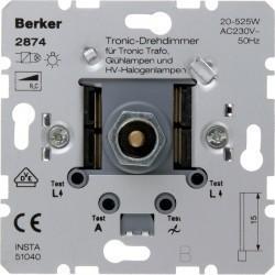 Механизм поворотного светорегулятора-переключателя Berker Коллекции Berker, 525 Вт, 2874