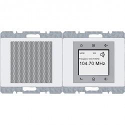 Arsys Berker Radio Touch с динамиком 87,5…108МГц 230В~ 50/60Гц , бел.