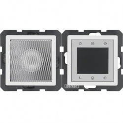 Q.1/Q.3 Berker Radio Touch с динамиком 87,5…108МГц 230В~ 50/60Гц , черн. бархат