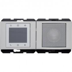 K.1/K.5 Berker Radio Touch с динамиком 87,5…108МГц 230В~ 50/60Гц , стальн. лак.