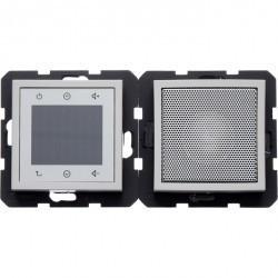 S.1/B.3/B.7 Berker Radio Touch с динамиком 87,5…108МГц 230В~ 50/60Гц , нерж. сталь, лак