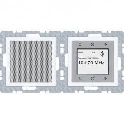 S.1/B.3/B.7 Berker Radio Touch с динамиком 87,5…108МГц 230В~ 50/60Гц , бел.