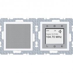 S.1/B.3/B.7 Berker Radio Touch с динамиком 87,5…108МГц 230В~ 50/60Гц , бел. матов.