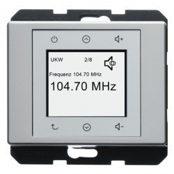 Arsys Berker Radio Touch 87,5…108МГц 230В~ 50/60Гц , cтальн. металл
