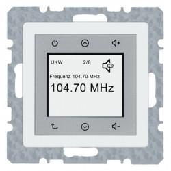Q.1/Q.3 Berker Radio Touch 87,5…108МГц 230В~ 50/60Гц , бел. бархат