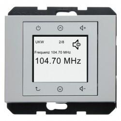 K.1/K.5 Berker Radio Touch 87,5…108МГц 230В~ 50/60Гц , стальн. лак.