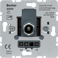 Механизм поворотного светорегулятора-переключателя Berker Коллекции Berker, 1000 Вт, 2885