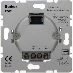Механизм клавишного светорегулятора-переключателя Berker Коллекции Berker, 260 Вт, 2901