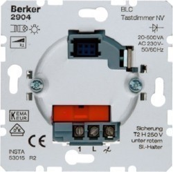 Механизм клавишного светорегулятора-переключателя Berker Коллекции Berker, 500 Вт, 2904