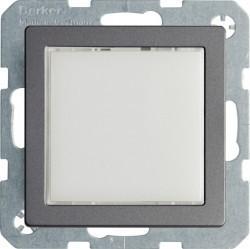 Q. Светодиодный светосигнализатор, белое свечение, алюминий, бархат