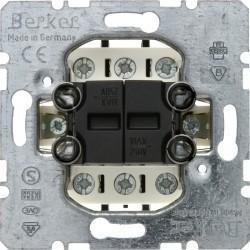 Механизм переключателя 2-клавишного Berker Коллекции Berker, скрытый монтаж, 303808