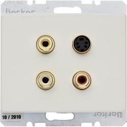 Розетка Cinch/S-Video Berker ARSYS, бежевый, 3315320002