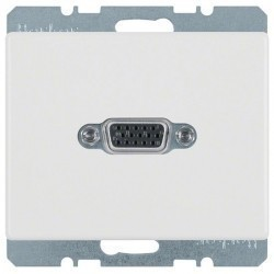 Розетка VGA Berker ARSYS, белый, 3315400069