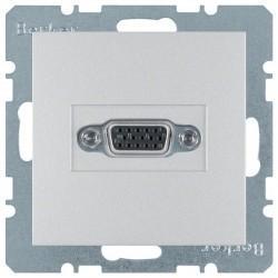 Розетка VGA Berker, серебристый, 3315401404