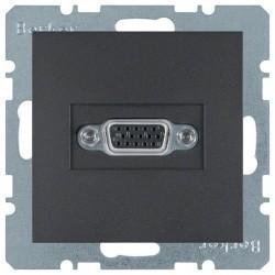 Розетка VGA Berker, черный, 3315401606