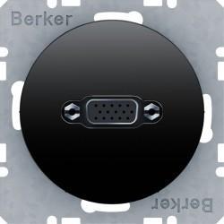 Розетка VGA Berker, черный блестящий, 3315402045