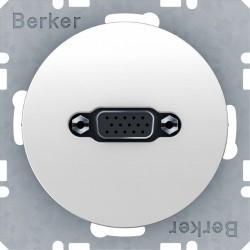 Розетка VGA Berker, белый блестящий, 3315402089