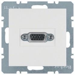 Розетка VGA Berker, белый, 3315408989