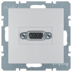 Розетка VGA Berker, серебристый, 3315411404