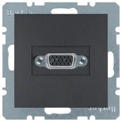 Розетка VGA Berker, черный, 3315411606