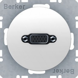 Розетка VGA Berker, белый блестящий, 3315412089