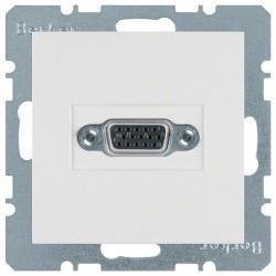 Розетка VGA Berker, белый, 3315418989