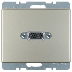 Розетка VGA Berker ARSYS, стальной, 3315419004