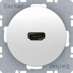 Розетка HDMI Berker, белый блестящий, 3315422089
