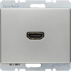 Розетка HDMI Berker ARSYS, стальной, 3315429004