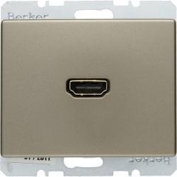 Розетка HDMI Berker ARSYS, светло-бронзовый, 3315429011