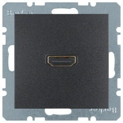 Розетка HDMI Berker, антрацит, 3315431606