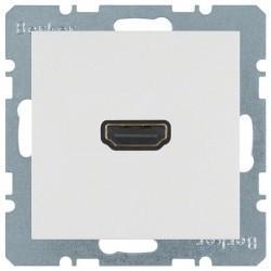 Розетка HDMI Berker, белый, 3315438989