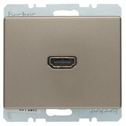 Розетка HDMI Berker ARSYS, бронза, 3315439011